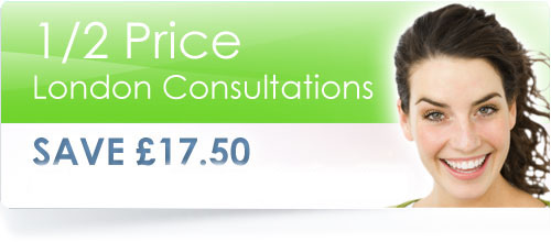 London Consultations only £17.50 for a limited time only.