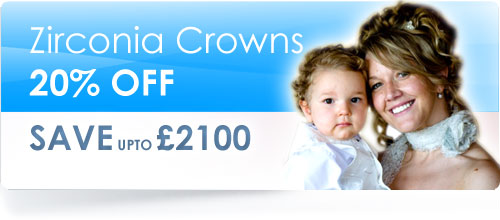 Twenty percent off Zirconia Based Crowns Offer - Model shown is our client Julie Davis after her treatment on her wedding day.